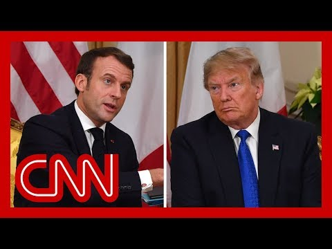 Trump and Macron clash during NATO summit meeting