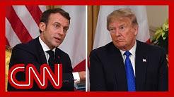 Trump and Macron clash during NATO summit meeting