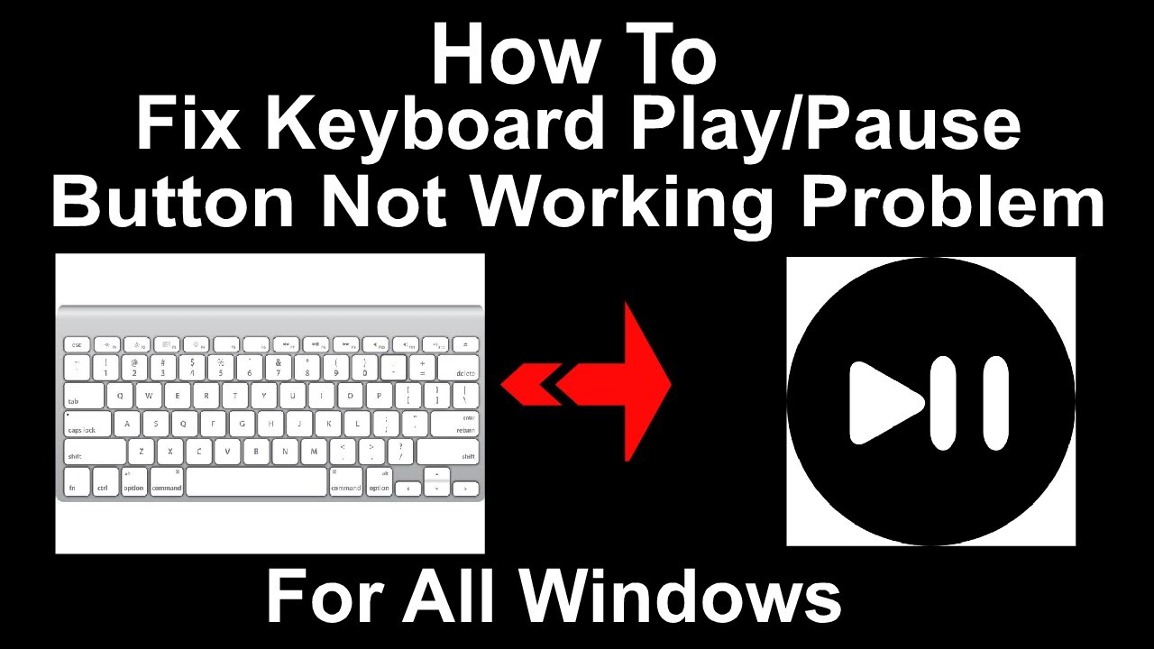How To Fix Keyboard Play/Pause Button Not Working Problem On Any Windows