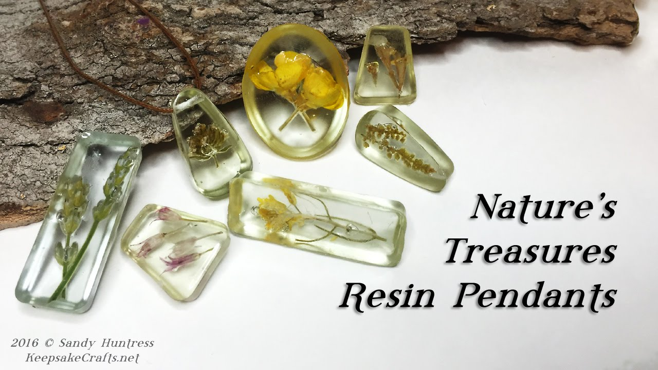 Natures treasures resin pendant jewelry tutorial youtube aloadofball Gallery