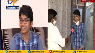 Arun Tej From Kazipet Interview   Over Gets 3rd Rank in JEE Mains