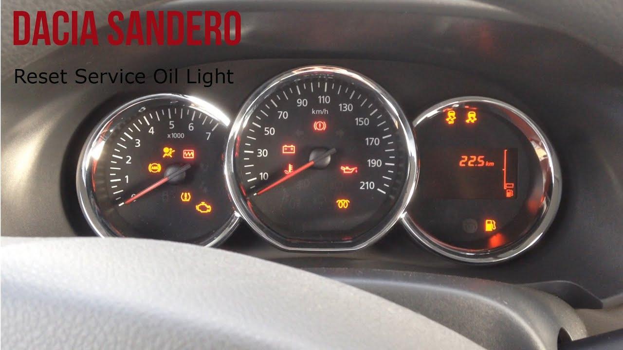 Dacia Sandero Reset Service Light Youtube