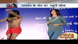 Watch Shilpa Shetty and Baba Ramdev