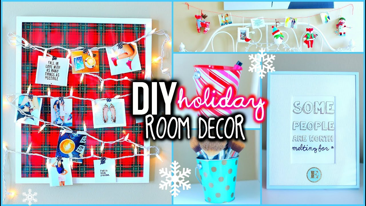 diy holiday room decorations! + easy ways to organize! - youtube