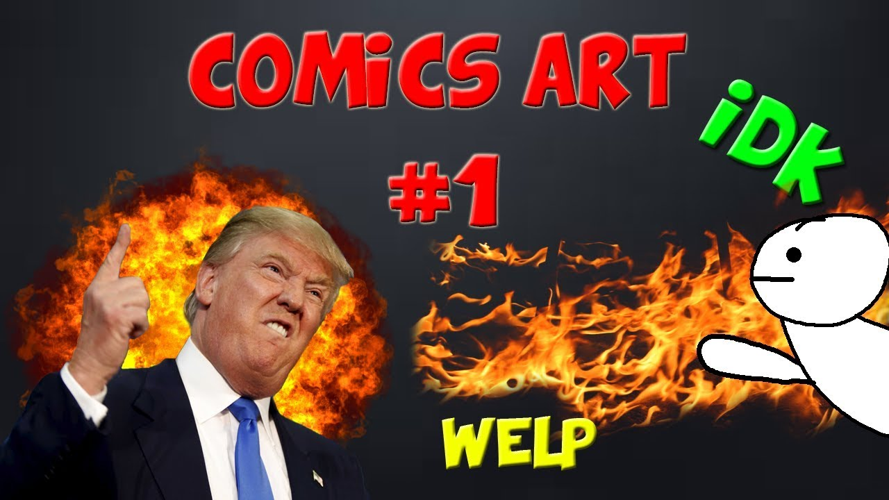 Comic Art Video #1 Donald Trump!  With YudiDerp speaking