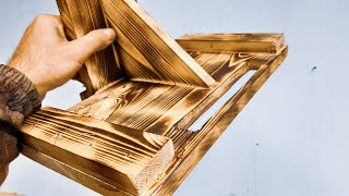 Cool idea! Don't throw away pieces of wood! The dream of every man! This is not to buy in the store!