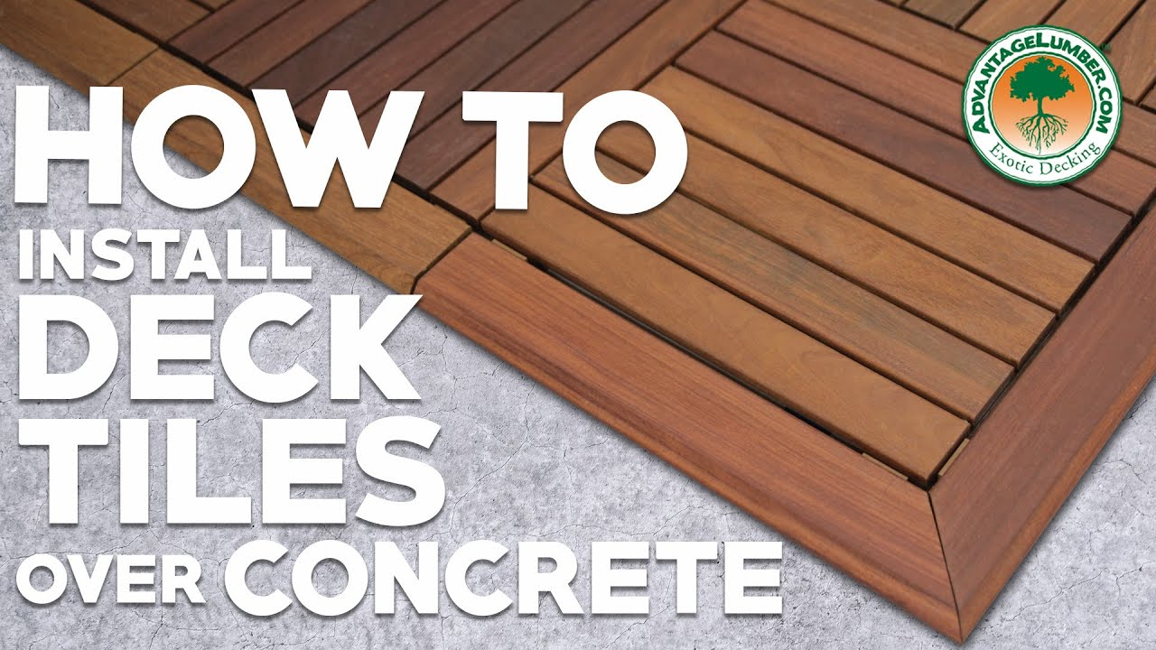 how to install deck tiles over concrete ipe deck tiles
