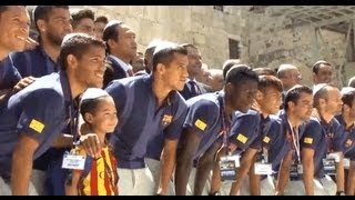 FC Barcelona, led by football star Messi, visits the Holy Land