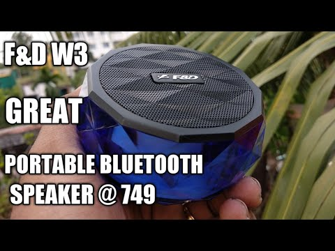 F&d W3 - Portable Bluetooth Speaker Unboxing , Review & Sound Test | Sound Master