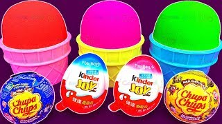Kinetic Sand Ice Cream Surprise Toys with Chupa Chups and Kinder Joys