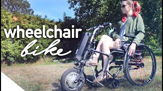 My New Wheelchair Electric Bicycle Attachment! | Power Assist CNE Bikes
