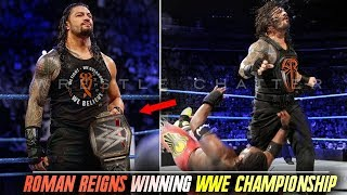 Roman Reigns Winning WWE Championship From Kofi Kingston Roman Reigns Vs Kofi Kingston WWE Title !