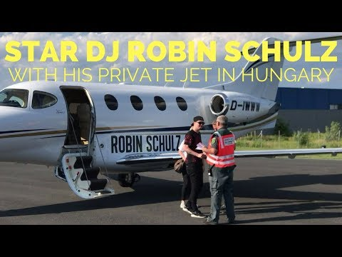 Star DJ Robin Schulz and his private jet in Hungary - EXCLUSIVE VIDEO!