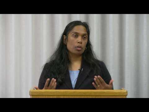 Professor Sudha Setty speaking on Security and Civil Liberties under Trump
