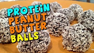 Protein Peanut Butter Balls Recipe (no Bake!)