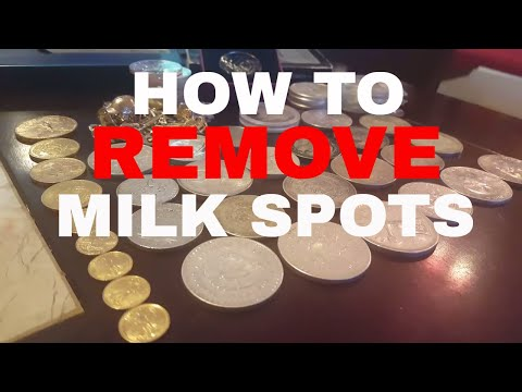 How to remove milk spots from your #silver #coins #bullion #silverstackers