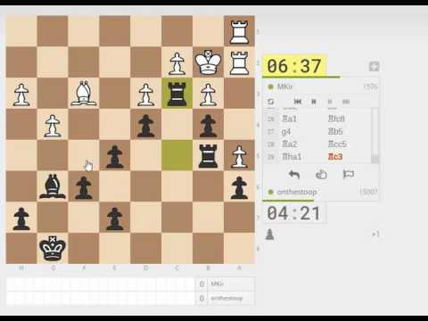 Game1 classical - Black vs MKir - Van Geet Opening