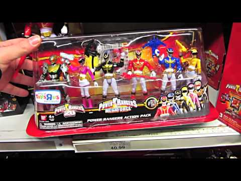 Power Rangers Megaforce & Samurai At Toys R Us Times Square! (Feb 2013)