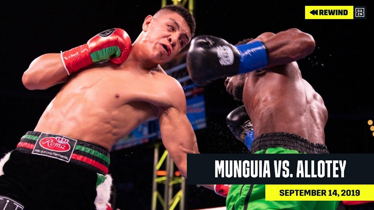 FULL FIGHT   Jaime Munguia vs. Patrick Allotey (DAZN REWIND)