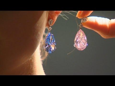 $70 млн планируют выручить за серьги с розовым и голубым бриллиантами (новости)