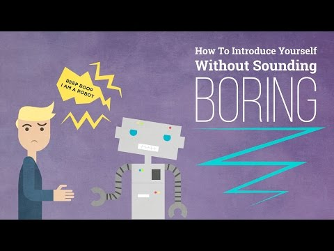 How to Introduce Yourself Without Sounding Boring