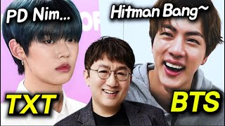 BTS and TXT's Different Attitudes Toward Bang PD..?