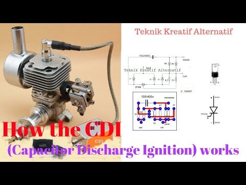 How the CDI (Capacitor Discharge Ignition) works.