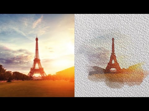 How to create a watercolor effect in Photoshop   Photoshop Tutorial thumbnail