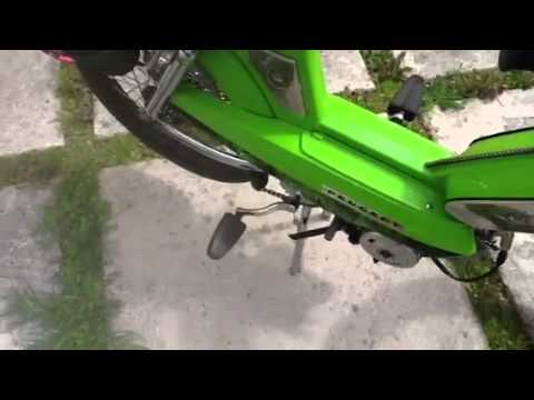 """Peugeot 103 """"Green Energy"""" . Start up and idle ."""