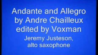 Andante and Allegro by Andre Chailleux for alto saxophone