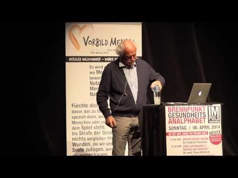 Dr. Friedrich Graf Salzburg Brennpunkt Gesundheitsanalphabet