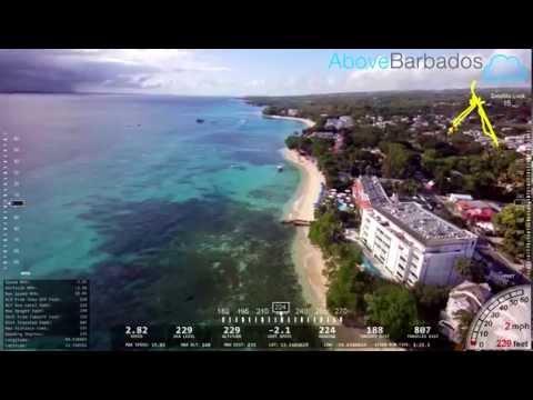 Demo Of Flight Data Overlay On Quadcopter - Paynes Bay Fish Market, Barbados