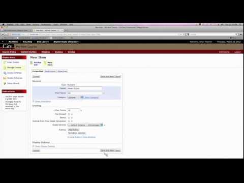 D2L - Creating a Basic Gradebook