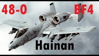 BF4 Attack Jet Gameplay (48-0) | Hanain Resort: A-10 | Conquest Large HD - Turbopummel