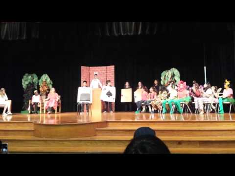 Truitt Middle School production of Alice@Wonderland, Mad Hatter Court scene