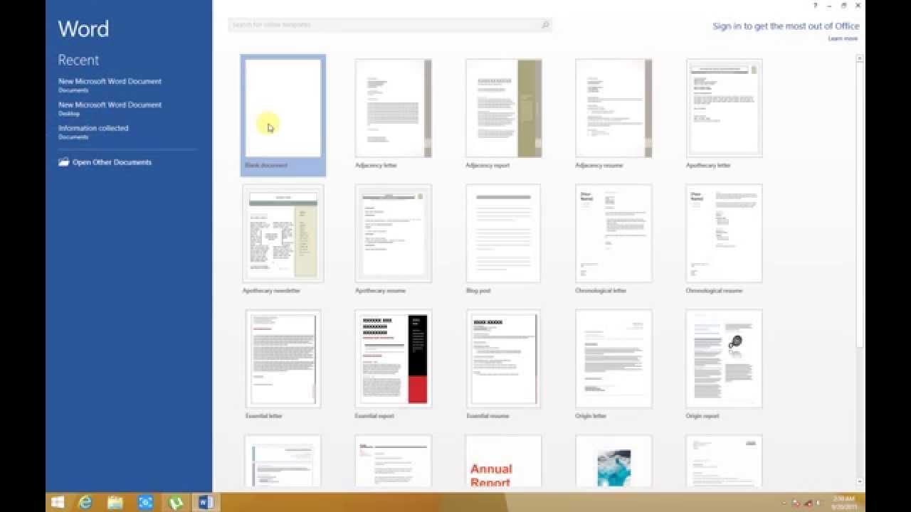 01 krijimi ruajtja dhe hapja nje dokumenti ne word 2013