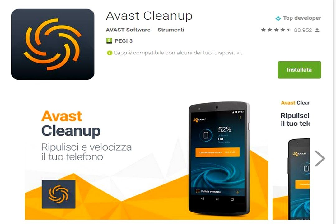 Avast GrimeFigther- Cleanup Android Free