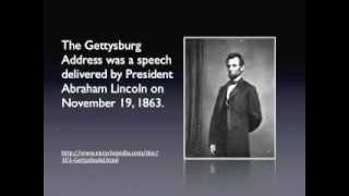 The Gettysburg Address Music Video