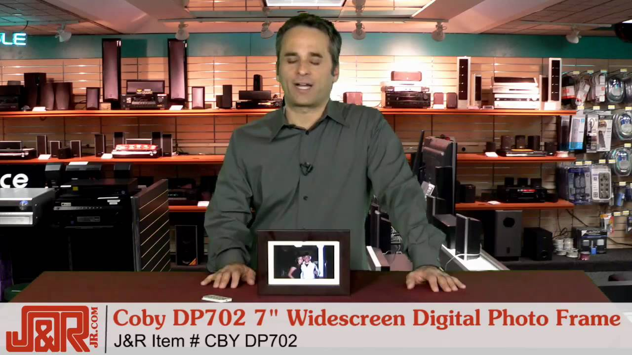Coby Dp702 7 Widescreen Digital Photo Frame With Multimedia