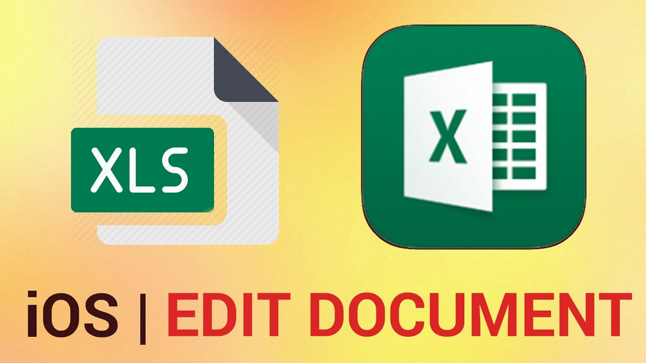 How to Edit an Existing Document in Excel for iPad - YouTube