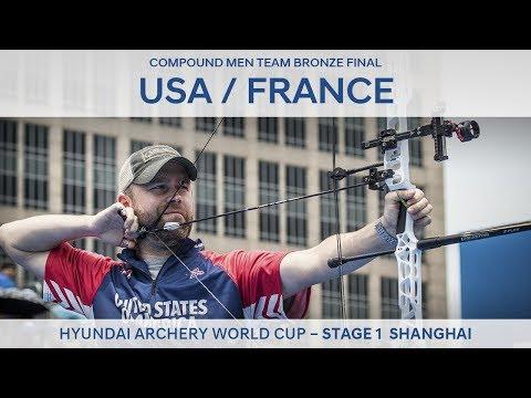 USA v France – Compound Men Team Bronze Final | Shanghai 2017