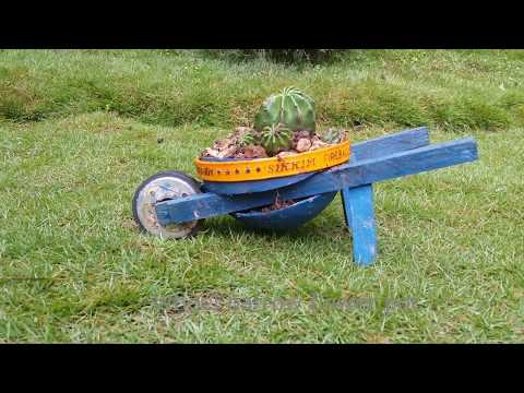 DIY Wheelbarrow Flower pot.