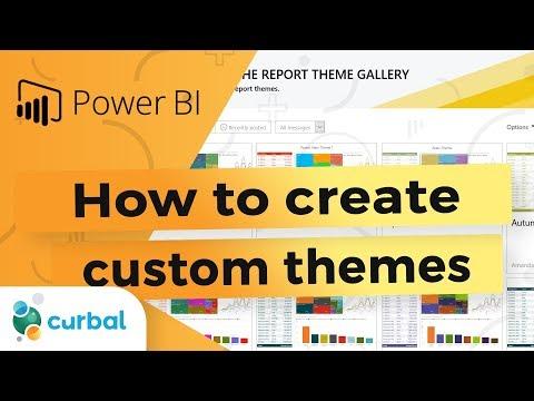How to create custom color themes - Power BI Tips & Tricks
