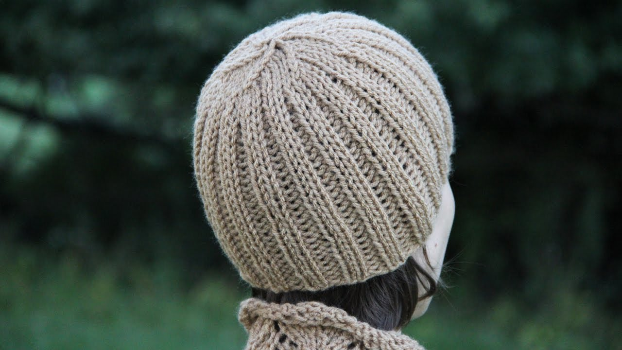 f2e33962b88 How to knit a ribbed hat. Video tutorial with detailed instruction. -  YouTube