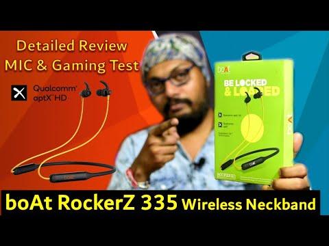 boAt Rockerz 335 Wireless Neckband,QualComm cVc MIC,Dual Pairing   Detailed Review,MIC & Gaming Test