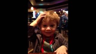 Ezra at the restaurant Thumbnail