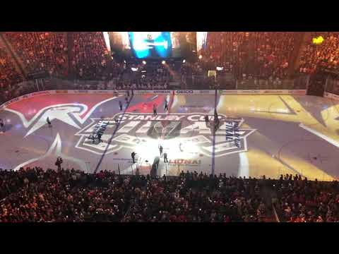 Michael Buffer duces Starting Lineups For Stanley Cup Final Game 1