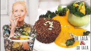 Gefüllte Kohlrabi auf Hokaido Kürbis Sugo mit Quinoa * das perfekte schnelle Dinner * Rezept