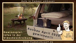 MiniCamper: Auto in Camper umbauen (5 Minuten!!!) Renault Scenic Car Camper Conversion Wohnmobil
