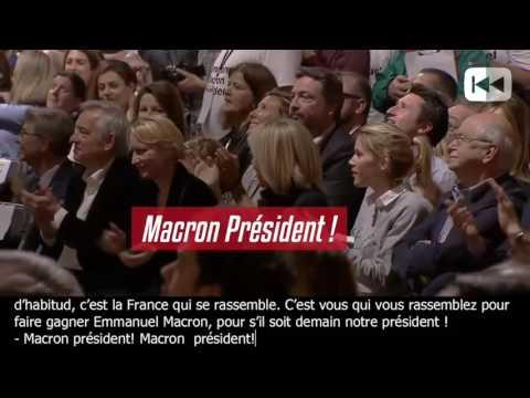 La mise en scène des meetings de Macron & la